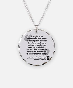 Machiavelli Lead Quote Necklace