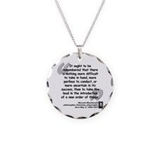 Machiavelli Lead Quote Necklace Circle Charm