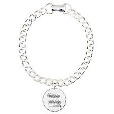 Machiavelli Lead Quote Charm Bracelet, One Charm