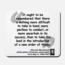 Machiavelli Lead Quote Mousepad