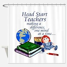 Cute Headstart teachers Shower Curtain