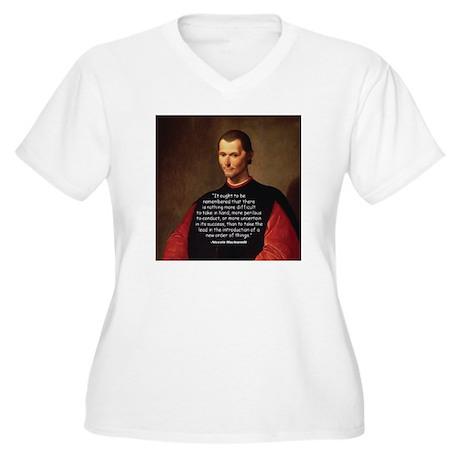 Machiavelli Lead Quote Women's Plus Size V-Neck T-