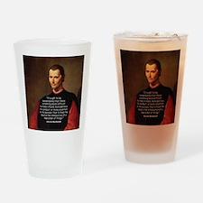 Machiavelli Lead Quote Drinking Glass