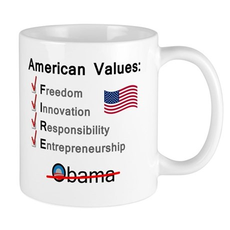 American Values: Fire Obama Mug