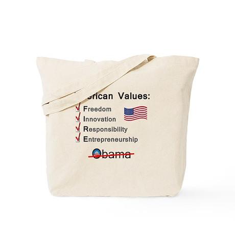 American Values: Fire Obama Tote Bag