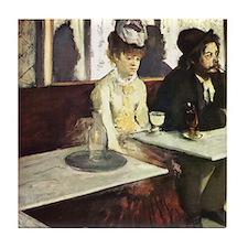 Edgar Degas Absinthe Tile Coaster