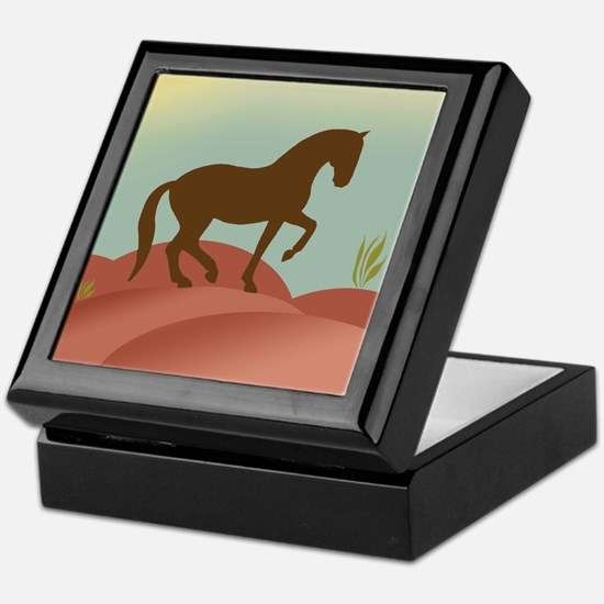 desert dressage Keepsake Box