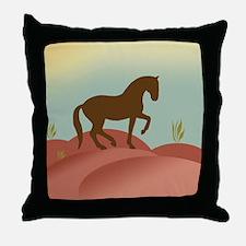 desert dressage Throw Pillow