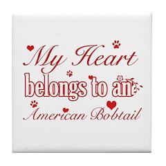 Cool American bobtail Cat breed designs Tile Coast