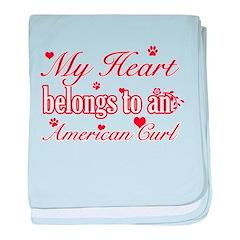 Cool American Curl Cat breed designs baby blanket