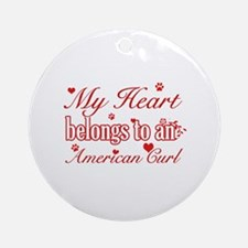 Cool American Curl Cat breed designs Ornament (Rou