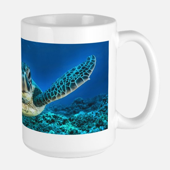 Aquatic Sea Turtle Large Mug
