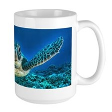 Aquatic Sea Turtle Large Mug
