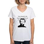 Carl Menger - The Economy Women's V-Neck T-Shirt