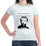 Carl Menger - The Economy Jr. Ringer T-Shirt