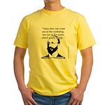 Eugen von Bohm Bawerk - Value Yellow T-Shirt