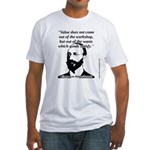 Eugen von Bohm Bawerk - Value Fitted T-Shirt