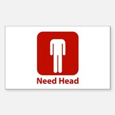 Need Head Sticker (Rectangle)
