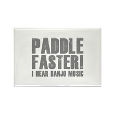 Paddle Faster ! Rectangle Magnet