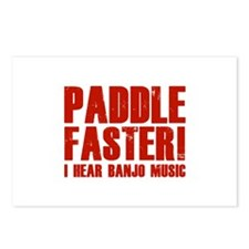 Paddle Faster ! Postcards (Package of 8)