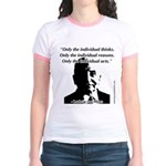 Ludwig von Mises - The Individual Jr. Ringer T-Shi