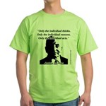 Ludwig von Mises - The Individual Green T-Shirt