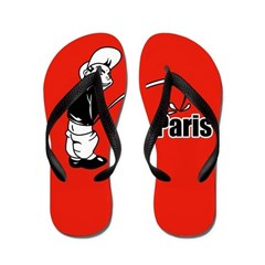 Piss on Paris Flip Flop designs Flip Flops
