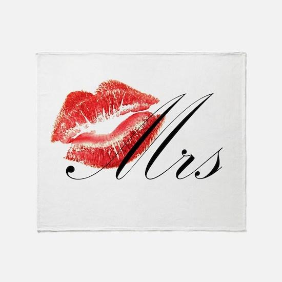 Mrs Lips.png Throw Blanket