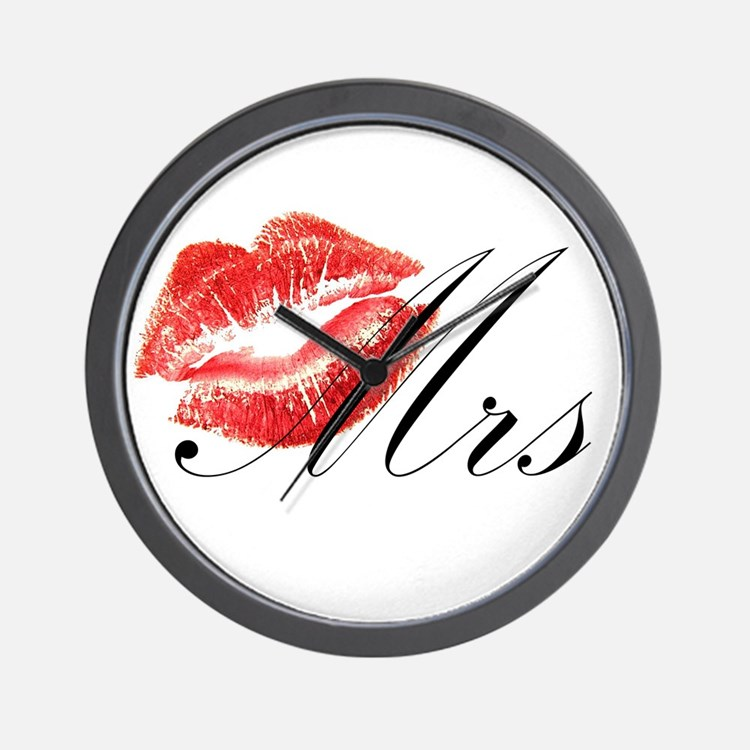 Mrs Lips.png Wall Clock