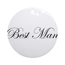 Best Man.png Ornament (Round)