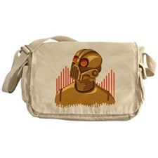 Buy Me A Gold Robot Messenger Bag