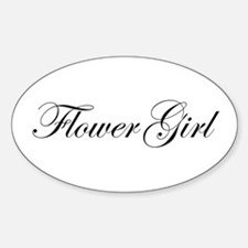 Flower Girl.png Sticker (Oval)