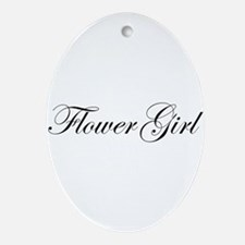 Flower Girl.png Ornament (Oval)