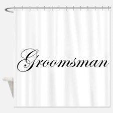 Groomsman.png Shower Curtain