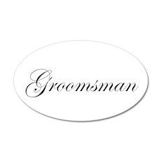 Groomsman.png 22x14 Oval Wall Peel