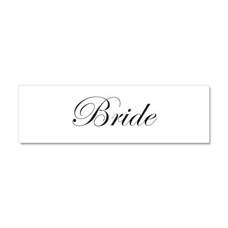 Bride.png Car Magnet 10 x 3