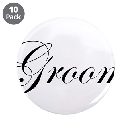 "Groom.png 3.5"" Button (10 pack)"