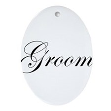 Groom.png Ornament (Oval)