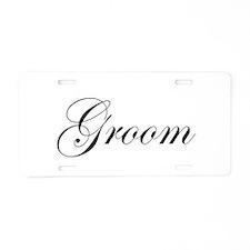 Groom.png Aluminum License Plate