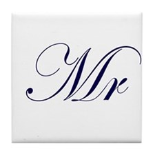 Mr-Blue.png Tile Coaster