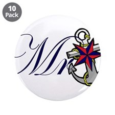 "Mr Anchor.png 3.5"" Button (10 pack)"