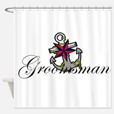 Groomsman Anchor.png Shower Curtain