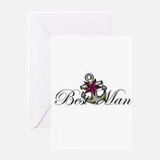 Best Man Anchor.png Greeting Card
