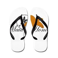 Sand Dollar Starfish Maid of Honor.png Flip Flops