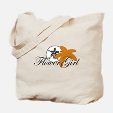 Sand Dollar Starfish Flower Girl.png Tote Bag