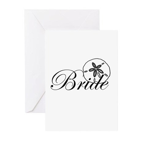 Sand Dollar Bride.png Greeting Cards (Pk of 10)