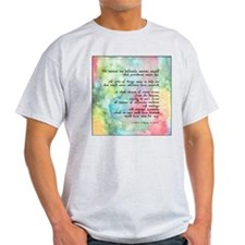 Inspirational Goethe Quote Ash Grey T-Shirt