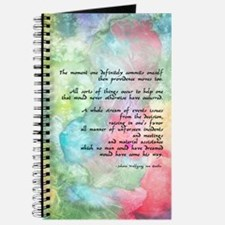 Inspirational Goethe Quote Journal