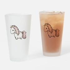 Pink Unicorn - Drinking Glass