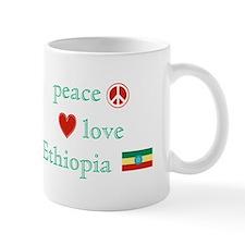 Peace, Love and Ethiopia Mug